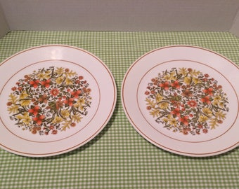 Corelle Indian Summer Dinner Plates Corelle Indian Summer Plates Corelle Wildflowers pattern SCRATCHES