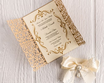 Beauty And The Beast Invitation Red Rose Invitation