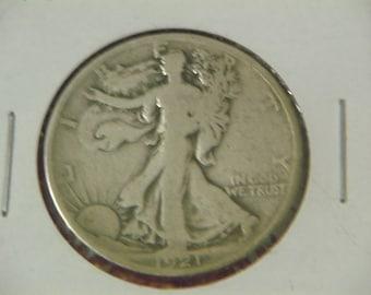 1921-S Walking Liberty Half Dollar - VG
