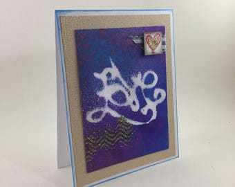 Graffiti Love greeting card