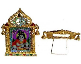 Laddu Gopal Golden Picture Stand