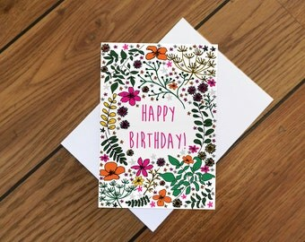 Garden Bloom Birthday Card
