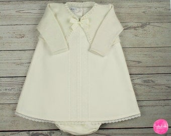 Baby girl christening gown outfit christening wedding set to the baptism white festive dress vintage baby dress