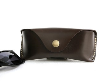Glasses case for Wayfarer, Chocolate brown Handcrafted*