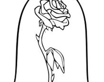SVG Disney Enchanted Rose Beauty And The Beast Flower