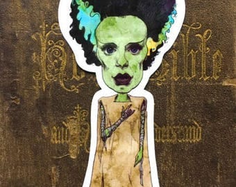 Bride of Frankenstein Vinyl Sticker
