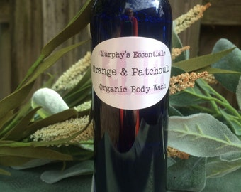 Organic Handmade Body Wash with Bitter Orange and Patchouli Essential Oil