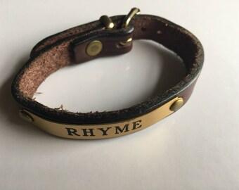 Bracelet Tory Leather Brown OakBark Golden