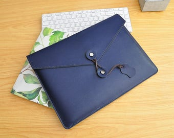 "Apple MacBook 12 inch Leather Case 12 inch MacBook sleeve with extra pocket Macbook air cover 11inch 13inch Macbook Pro 13"" 15"" Sleeve -099"