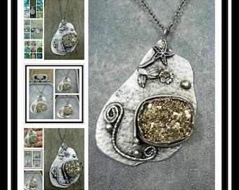 Memorial Ash Necklace/Glitter Glass Memorial Pendant Necklace/Pet Memorial