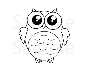 Owl coloring pages | Etsy