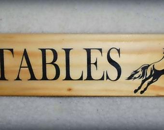 Personalised Handmade Wooden Arrow Sign