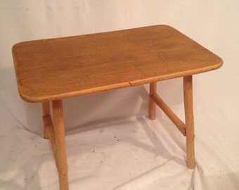 Small Rectangle feet Vintage wooden model coffee table