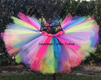 Pastel Rainbow Tutu/ Birthday Tutu/ Unicorn Birthday/ Easter Tutu/ Candy Land Tutu/ Circus Tutu/ Rainbow Baby Tutu
