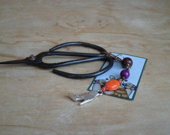 Witches Boot Halloween Pagan Wiccan Scissor Keeper Handbag Charm Purse Charm Cell Phone Charm Key Fob Gift Mum Mom Sister Friend
