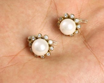 925 Sterling Silver majorica pearl  Earrings