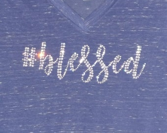 Blessed Rhinestone Shirt