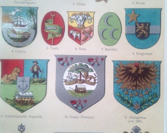 "Chromolithograph ""Coat of arms IV."""