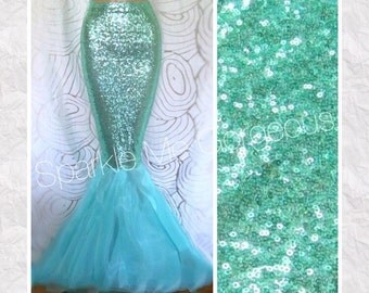 Mermaid Costume Adult - Aqua Sequin High Waist Mermaid Tail