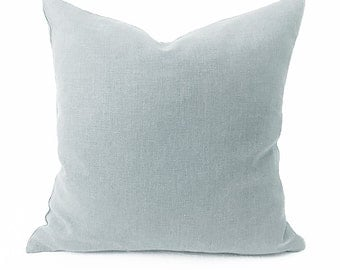 Plain Linen Cushion - Light Grey- Blue-Grey- Plain Cushion- blue Pillow- Plain Pillow- Light Blue Pillow- Blue Cushion- Light Grey Cover