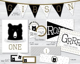 bear party printables, bear party, bear party decorations, teddy bear party printables, teddy bear party, teddy bear party decorations