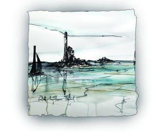 "FASTNET LIGHTHOUSE - Small island County Cork ""Ireland's teardrop"""