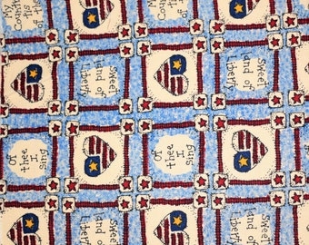 Fabric - American Flag, Patriotic Fabric, Independance Day, 4th of July, Red White & Blue Fabric, Americana Fabric