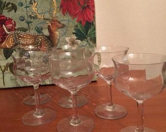 champagne sherbet glasses set of 6