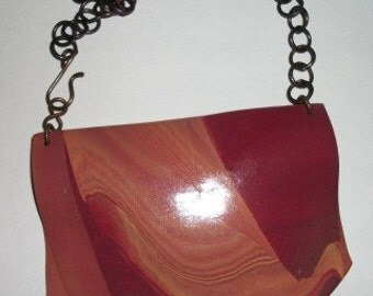 Brown Polymer Clay Pendant Necklace
