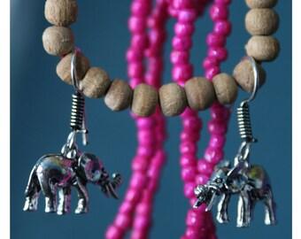 Ello, playful earrings from Tibetan silver