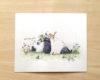 Panda Noms - Original Painting