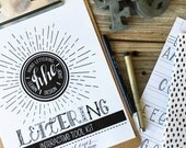 Lettering Interactive Tool Kit, Beginners, Learn Hand-Lettering, Brush Lettering, Tutorial, Lettering Guide, Drills, Modern Calligraphy