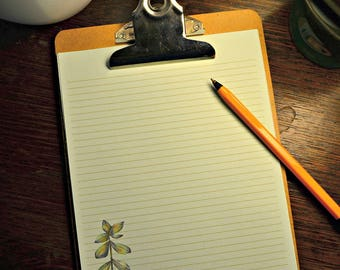 Green Thumb Writing Paper-Note Paper- Stationery