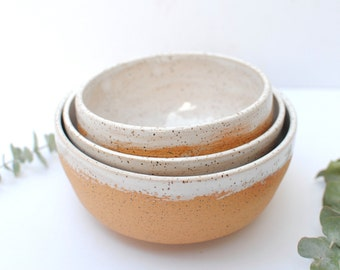 Handmade Rustic Ceramic Bowl Set