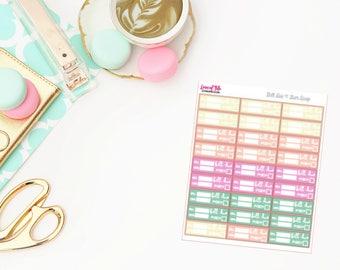 Bill Due | Gum Drop Color Scheme | Life Planner Stickers