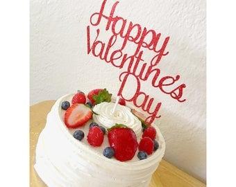 Valentine's Day Cake topper, Happy Valentine's Day, love cake topper, you're my valentine, valentine's day topper- 1 cake topper