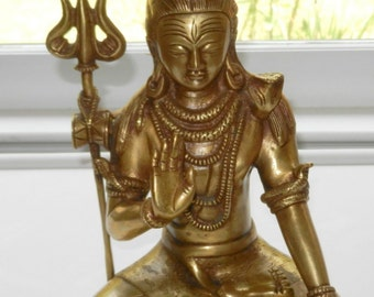 "10"" Tibet Tibetan Buddhism Brass Buddha Statue Beautiful"