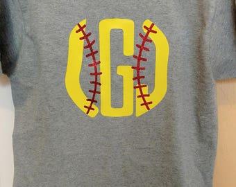 Softball Monogram Shirt