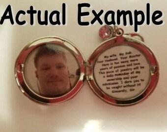 Design Your Own BDSM Discrete Locket Necklace