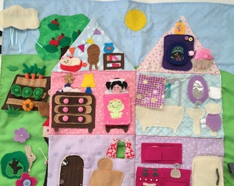 Doll House Play Mat Toy for Girls, Pretend PlayMat, Girl Gift, Christmas present