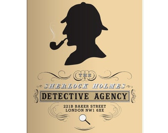 Sherlock Holmes Case Solving Fun  gift A5 Notebook, Detective Holmes Baker Street Journal , Great present for Men