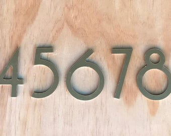 Mid Century Modern Home Gold Brushed Aluminum Numbers Free Shipping