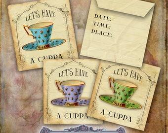 Tea Bag Envelope Invitation