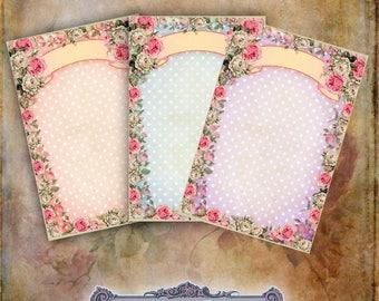 5 Rose Frame Tags
