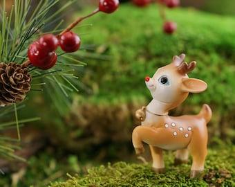 Fairy Garden  - Mini Reindeer Prancing - Miniature