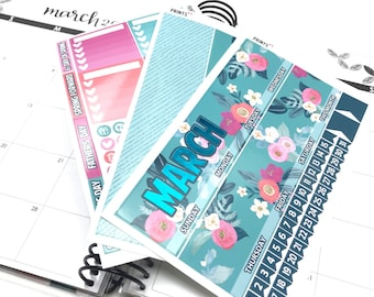 SALE FOIL MARCH Monthly kit, Planner Stickers