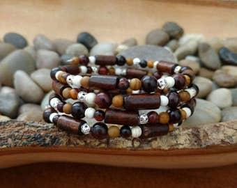 Natural Wonder Memory Wire Bracelet