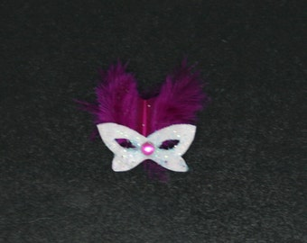 OOAK Frosty Masquerade Mask ~ Dolls House Miniature ~ 12th Scale