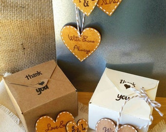 Heart Wedding Favors, Rustic Wedding Favors, Heart Magnet Favors, Wedding Favor Magnets, Handmade Wedding Gifts, Ornament Favors, Wood Heart