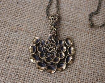 Vintage Hannu Ikonen  Reindeer Moss Pendant Necklace
